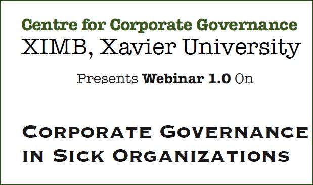 Centre for Corporate Governance organising Webinar 1.0